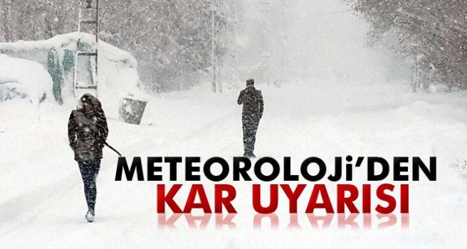 Meteoroloji'den kar uyarısı!  27 Ocak Cumartesi yurtta hava durumu ile ilgili görsel sonucu