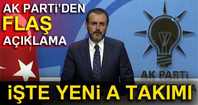 AK PARTİ'NİN YENİ A TAKIMI!