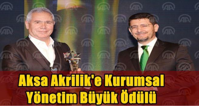 Aksa Akrilik'e kurumsal yönetim büyük ödülü