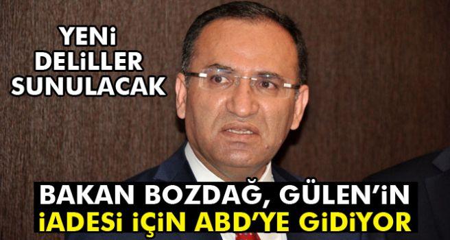 Bakan Bozdağ, Gülen'in iadesi için yarın ABD'ye gidecek