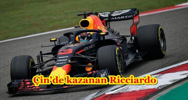 Çin'de kazanan Ricciardo
