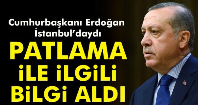 Cumhurbaşkanı Erdoğan, Beşiktaş'taki saldırıya ilişkin bilgi aldı