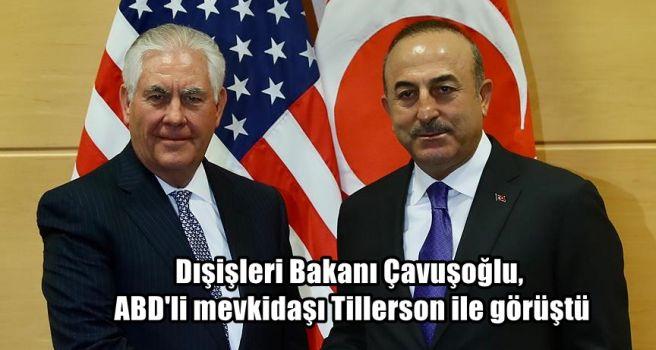 Dışişleri Bakanı Çavuşoğlu, ABD'li mevkidaşı Tillerson ile görüştü