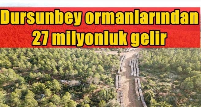 Dursunbey ormanlarından 27 milyonluk gelir