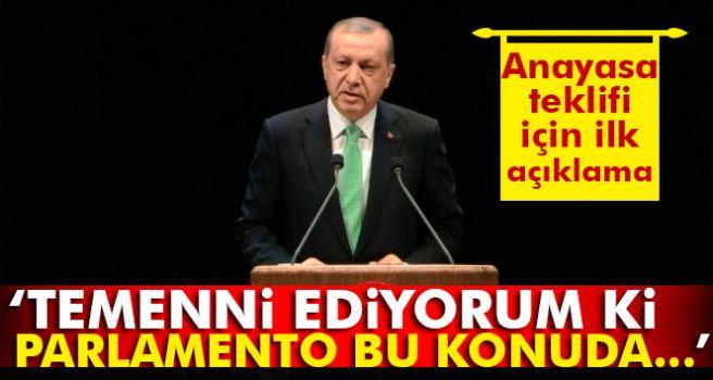 Erdoğan: Temenni ediyorum ki parlamento bu konuda beklenen arzulanan kararı verir