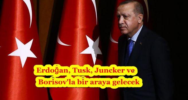 Erdoğan, Tusk, Juncker ve Borisov'la bir araya gelecek