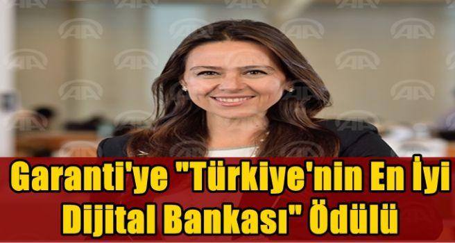 """Garanti'ye """"Türkiye'nin En İyi Dijital Bankası"""" ödülü"""