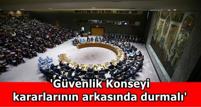 'Güvenlik Konseyi kararlarının arkasında durmalı'