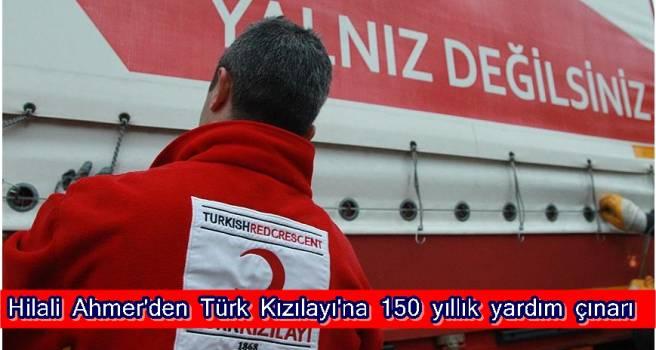 Hilali Ahmer'den Türk Kızılayı'na 150 yıllık yardım çınarı