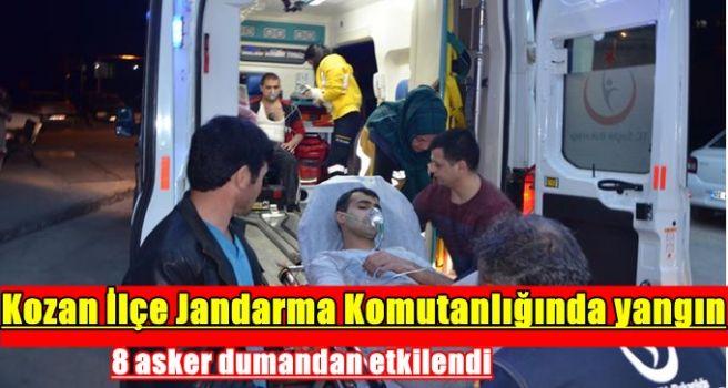 Kozan İlçe Jandarma Komutanlığında yangın: 8 asker dumandan etkilendi