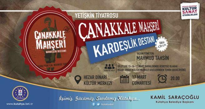 Kütahya Çanakkale Zaferi'ni Kutluyor