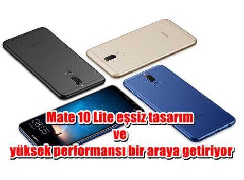 Mate 10 Lite eşsiz tasarım ve yüksek performansı bir araya getiriyor