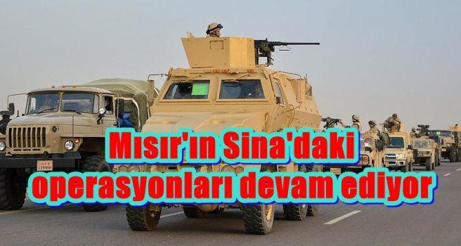 Mısır'ın Sina'daki operasyonları devam ediyor