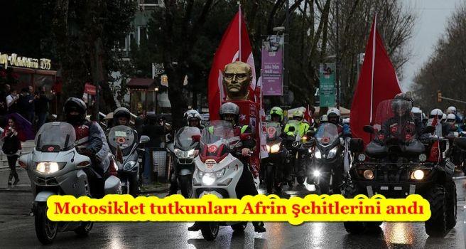 Motosiklet tutkunları Afrin şehitlerini andı