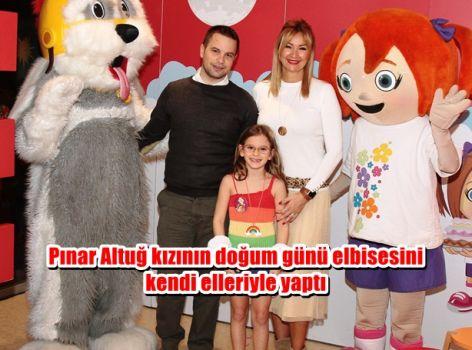 Pınar Altuğ kızının doğum günü elbisesini kendi elleriyle yaptı