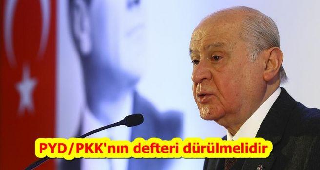 PYD/PKK'nın defteri dürülmelidir