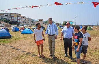 Karacabey'in incisi Yeniköy'e çadır ve karavan park alanı
