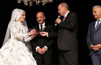 Cumhurbaşkanı Erdoğan ile TBMM Başkanı Yıldırım, düğüne katıldı