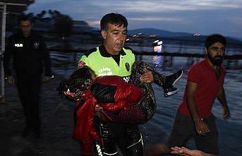 Türk polisi göçmen kız için gözyaşı döktü