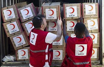 Türk Kızılay'dan Mozambik'teki afet bölgesine yardım