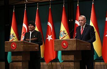 Cumhurbaşkanı Erdoğan: Bolivya'nın Filistin davasına verdiği desteğe teşekkür ediyorum