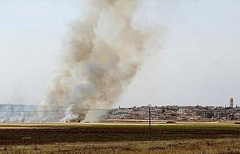 Tel Rıfat'taki YPG/PKK'lılar Bab'daki sivillerin tarım arazilerini yaktı