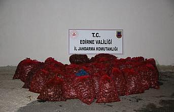 Edirne'de kaçak toplanan 1 ton kum midyesi ele geçirildi