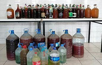 Tekirdağ'da yaklaşık 1 ton sahte içki ele geçirildi