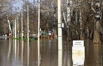 Tunca Nehri'nin debisi düştü taşkın suyu çekilmeye başladı