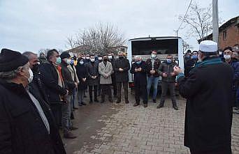 Enez açıklarında bulunan balıkçının cenazesi toprağa verildi