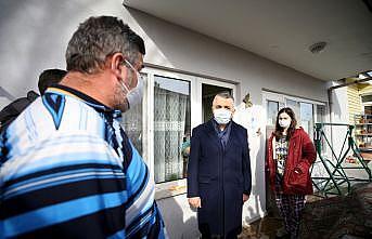 Kırklareli Valisi Bilgin, dere yatağının taştığı bölgede incelemede bulundu: