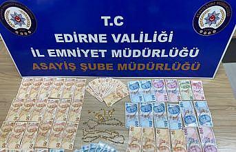 Edirne'de kuyumcudan altın çalan zanlılar tutuklandı