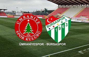 Bereket Sigorta Ümraniyespor-Bursaspor maçının ardından