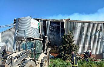 Kırklareli'nde hayvan çiftliğinde çıkan yangın kontrol altına alındı