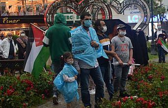 Sakarya, Düzce, Karabük ve Kocaeli'de İsrail'in Mescid-i Aksa'ya saldırıları protesto edildi
