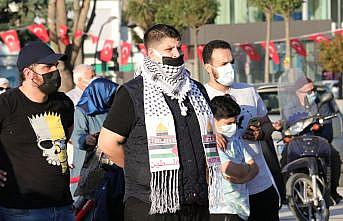 Sakarya'da İsrail'in Filistin'e yönelik saldırıları protesto edildi