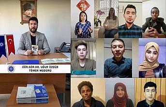 """Tekirdağ'da uluslararası öğrenciler """"Anneler gününe"""" özel klip çekti"""