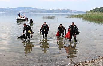 Düzce ve Sakarya'da gönüllüler, Karadeniz sahili ile Sapanca Gölü çevresindeki çöpleri topladı