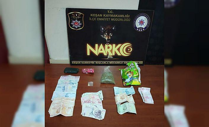 Keşan'da evinde uyuşturucu yakalanan şüpheli tutuklandı