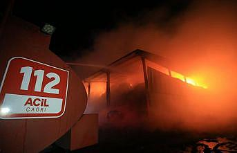 Kırklareli'nde büyükbaş hayvan çiftliğinde yangın çıktı