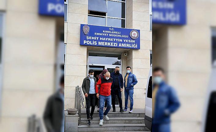 Kırklareli'nde fuhuş operasyonunda 11 şüpheli gözaltına alındı