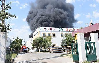 GÜNCELLEME - Tekirdağ'da geri dönüşüm fabrikasında çıkan yangın söndürüldü