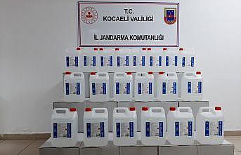 Kocaeli'de sahte içki operasyonunda 700 litre etil alkol ele geçirildi