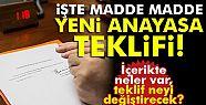 Anayasa teklifi Meclis'te... AK Parti'nin...