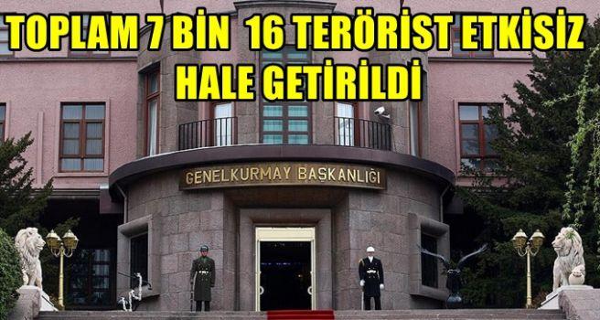 TSK 2017'de etkisiz hale getirilen terörist sayısını açıkladı