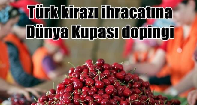 Türk kirazı ihracatına Dünya Kupası dopingi