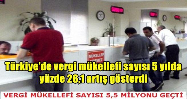 Türkiye'de vergi mükellefi sayısı 5 yılda yüzde 26,1 artış gösterdi
