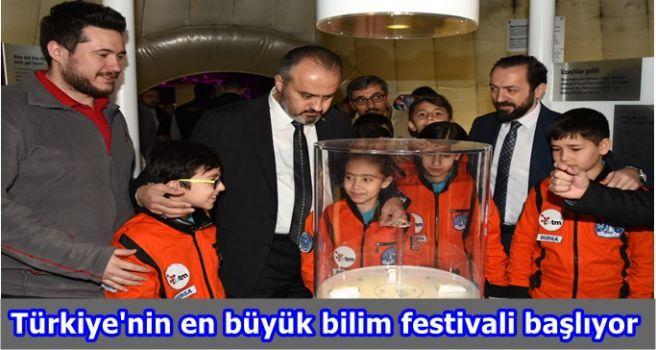 Türkiye'nin en büyük bilim festivali başlıyor
