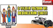 BİLGE ADAMLAR YAZDI..