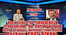 ZİRVEDEKİLER'in  Konuğu Bursa Artvin Der.Fed.Bşk.Suat Özkan
